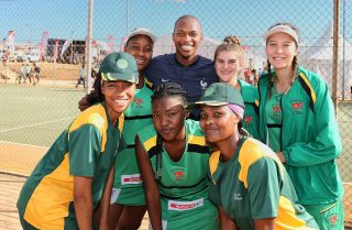 LUVO MANYONGA WORLD CHAMPION LONG JUMPER A HIT AT THE NETBALL